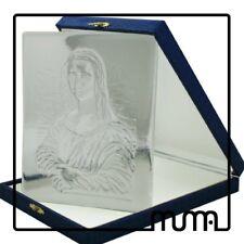 Icona vetro Murano formella figura Monna Lisa - Gioconda da collezione.