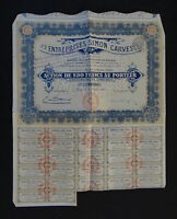 ACTION Entreprises SIMON CARVES Paris 1919 french bond stock share