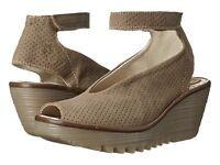 Fly London Women's Yala Perf Wedge Sandals Khaki