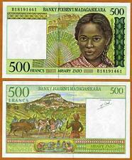 MADAGASCAR / Africa, 500 Francs, ND (1994), P-75, UNC > Girl