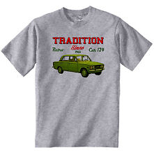 VINTAGE ITALIAN CAR FIAT 124 SPECIAL - NEW COTTON T-SHIRT