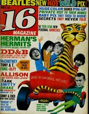 BEATLES DAVE CLARK 5 SONNY & CHER DAVID SOUL HERMAN'S HERMITS 16 MAGAZINE 1966