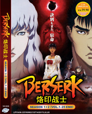DVD ANIME BERSERK Sea 1~2 Vol.1-25 End English Subs Region All + FREE DVD