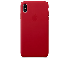 Red Apple Genuine Original Leather Protective Case Cover iPhone XS 5,8″