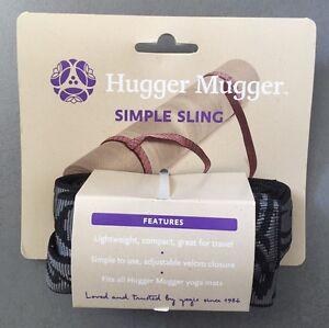 Hugger Mugger Simple Sling For Yoga Mat, Color Grey -Brand New