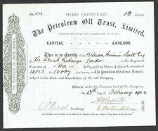 Share certificate Petroleum Oil Trust Ltd. (1902)