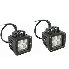 2x Dually Cubic 20W CREE LED Pod Lights For Truck Jeep Off-Road ATV 4WD 4x4