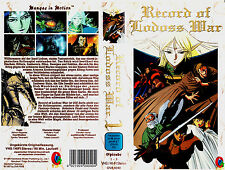 "VHS - "" Record of Lodoss WAR - Episode 1-3 "" -- 90 min. -- MANGA Anime"