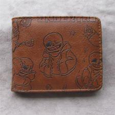Anime Undertale Sans Leather pu Bifold Men Wallet Credit Card Holder Coin Purse