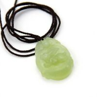 Lucky Eagle Hawk Bear Word Fu Black Green Jade Pendant Amulet