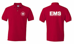 Emergency  Medical  Services EMS Logo  Paramedic Polo T shirts