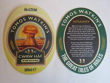 Beer Bar Coaster ~ Tomos Watkin's Golden Ale; The Great Ales From Swansea, Wales