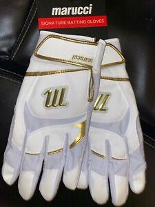 Marucci Adult Gold Signature Series Batting Gloves Large $50.00!!
