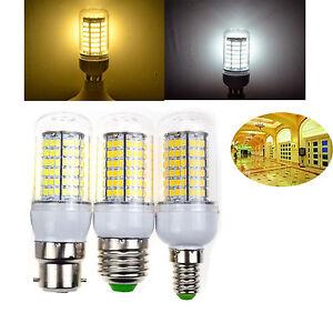 UK B22 BC E27 ES E14 SES LED Corn Bulbs 2835 SMD Day Warm White Lamp 220V Lights