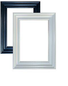 Swept Traditional Picture Poster Frames Wood Effect Black White Oak Walnut