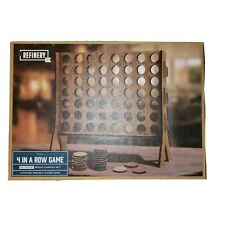 Refinery and Co. Wooden 4 in a Row Game Sleek Design Wood Connect 4 Board Game