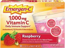 2 Emergen-C Vitamin C DAILY IMMUNE SUPPORT Raspberry 30 pack X 2 = 60 Pack