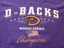 World Series 2001 Arizona Diamondbacks Champions Large Tee Purple Embroidered