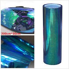 Chameleon Blue Autos Headlight Taillight Tint Vinyl Film Sticker Sheet 200x30cm