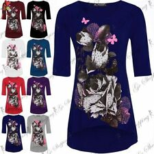 Butterfly 3/4 Sleeve Plus Size Tops & Shirts for Women