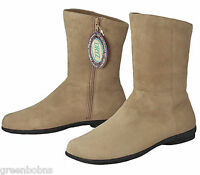 New Dexter Estate Ladies Camel Brown Suede Kidskin Ankle Boots Size 8.5 M