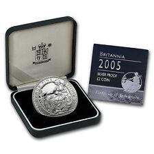 2005 Great Britain 1 oz Silver Proof Britannia (w/Box & COA) - SKU #88413