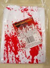 White Blood Splattered Tights Fancy Dress Halloween Zombie Horror