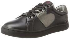 New Fornarina Andromeda Premium Womens Black Low Top Sneakers Shoes Trainers UK5
