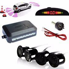 4xUltrason Car Rear Reverse Radar Parking Sensor LCD Display Buzzer Alarm Black