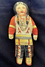 Antique Printed Cloth Stuffed American Indian Native American Doll