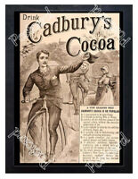 Historic Cadbury's Cocoa Advertising Postcard