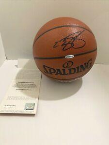 Lebron James signed Basketball UDA Upper Deck COA NBA