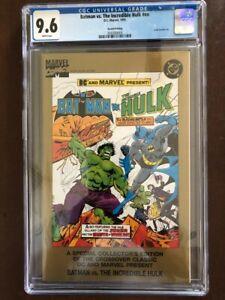 Batman vs. The Incredible Hulk lnn, 1995, DC/Marvel Comics, CGC 9.6 NM+