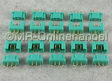 20 Paar (40 Stück) MPX Multiplex Style 6 Pin Hochstrom Gold Stecker + Buchse 35A