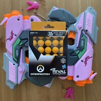 (2) TWO Nerf Rival Overwatch D.va Guns And 30x Extra Rounds Bundle Lot