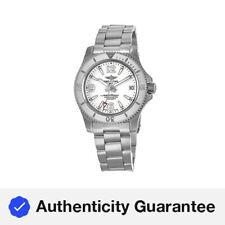 New Breitling Superocean 36 Automático Mostrador Branco Relógio Feminino A17316D21A1A1