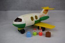 Vintage fisher price tirer jouet avion avion avec ouverture porte, 1980 S
