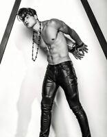 Black Soft Lambskin Genuine Leather Slim Fit Real Lambskin Men Leather Hot Pant