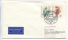 FFC 1970 Lufthansa PRIMO VOLO LH 590 - Francoforte Port Louis Mauritius