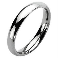 Plain Highly Polished 5mm TITANIUM Wedding Band, Ring, size 6 -NEW- in Gift Box