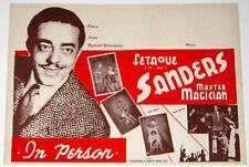 Original Fetaque Sanders Master Magician Poster