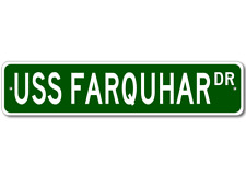 USS FARQUHAR DE 139 Street Sign - Navy