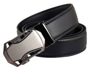QHA Mens Womens Automatic Ratchet Belt With Buckle Waist Gift