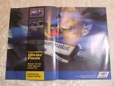 OLIVIER PANIS 1996 MONACO + F3 TAVO HELLMUND POSTER ADVERT READY FRAME A4 X 2  C