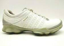 Ecco Biom White Leather Lace Up Soft Spike Golf Shoes Women's 39 / 8 - 8.5