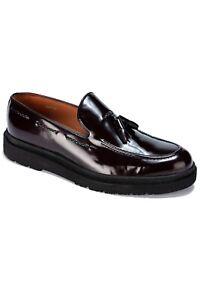 Jack Martin - Handmade - Oxblood Patent Genuine Leather Tassel Loafers