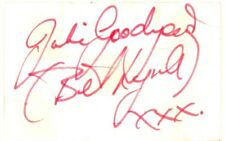 Julie Goodyear autograph signed card 1970s English actress Coronation Street