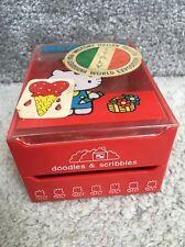Vintage Sanrio Hello Kitty Trinket Treasure Case 1976 1989 Red doodles