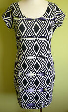Ladies Womens Stretch Fitted Pencil Dress Cap Sleeve Above Knee Supre Size M(12)