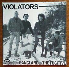 "VIOLATORS -GANGLAND/THE FUGITIVE-7"" ORIGINAL! CLASSIC UK OI! PUNK -NO FUTURE..."